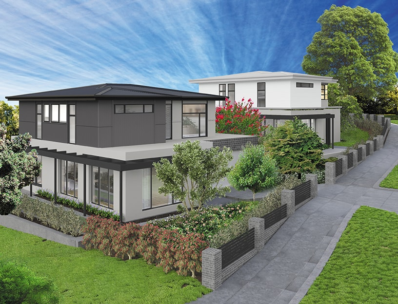 Balwyn north twin townhouse sub division gentrify for On site home builders